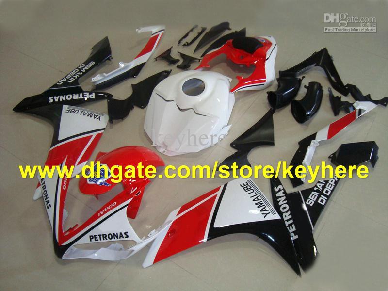 NOUVEAU! Personnaliser le kit de carénage blanc rouge pour les carénages YAMAHA YZF-R1 YZF R1 2007 2008 YZFR1 07-08 RX3P