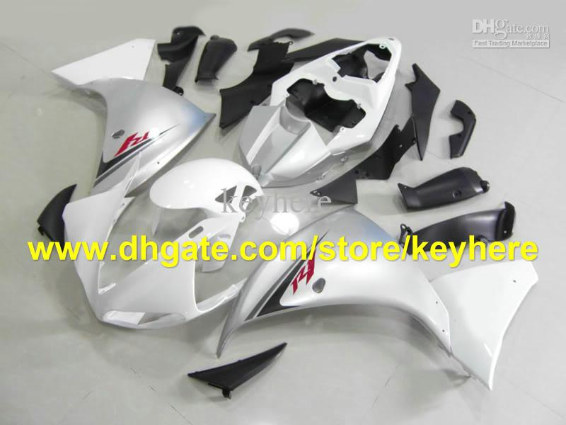 Hot sale silver black fairing kits for YAMAHA 2009 2010 2011 YZF 1000 YZF R1 YZFR1 09 10 11 RX1a
