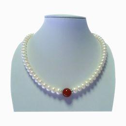 Canada Collier de perles naturelles et collier de jade de 8 à 9 mm Offre