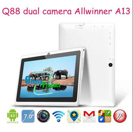 Tablet China 4gb Australia - 7inch A13 Dual Camera tablet pc Q88 Andriod 4.1 Capacitive Screen 512M 4GB Support external 3G modem