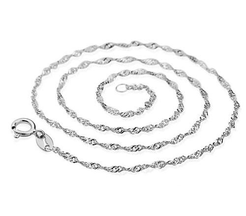 925 Sterling Silver Overlay Necklace Chain White GOLD Wedding Bridal Water Necklace Link Chain For Women/Laides 20pcs Brand NEW! Free Shippi