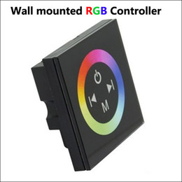 Wholesale Rgb Rainbow - Wall Mounted Touch Panel RGB Full-color LED Controller,Rainbow RGB Controller