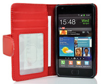 Wholesale Galaxy S2 Card - For Galaxy S2 Wallet Leather Case Cover With Photo Frame Credit Card Slots Stand For Samsung SII i9100