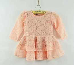 Modèles De Vêtements Robes Pas Cher-Girls Hollow Out Budsilk Robes Folded Double Flower Modeling Dresses Vêtements pour enfants