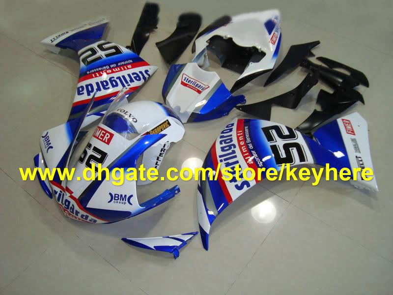 NEW!beautiful blue red 62 fairing kits for YAMAHA 2009 2010 2011 YZF 1000 YZF R1 YZFR1 09 10 11 RX1c