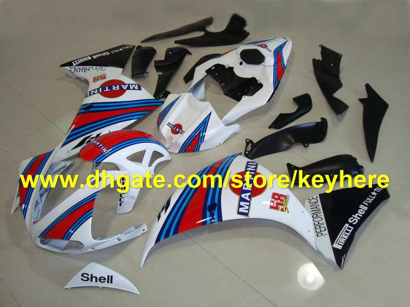 High grade red blue white fairing kits for YAMAHA 2009 2010 2011 YZF 1000 YZF R1 YZFR1 09 10 11 RX2c