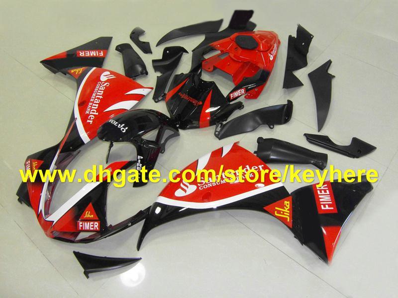 fashion santander red FIM fairing kits for YAMAHA 2009 2010 2011 YZF 1000 YZF R1 YZFR1 09 10 11 RX3c