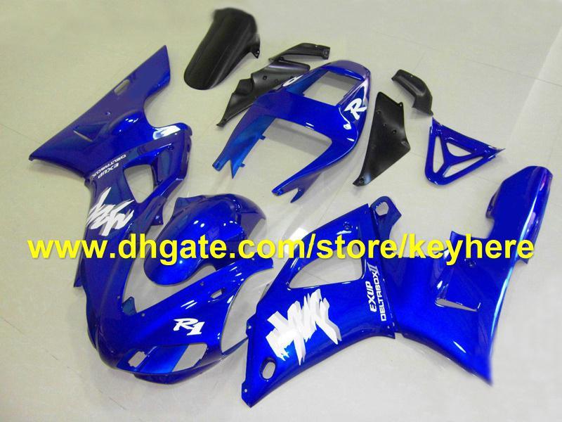 Kit de carenagem azul de alta qualidade popular para YAMAHA 98 99 YZF-R1YZF R1 1998 1999 YZFR1 98-99 carenagens RXb