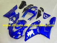 98 r1 verkleidung blau großhandel-beliebte hochwertige blaue verkleidung kit für YAMAHA 98 99 YZF-R1YZF R1 1998 1999 YZFR1 98-99 verkleidungen RXb