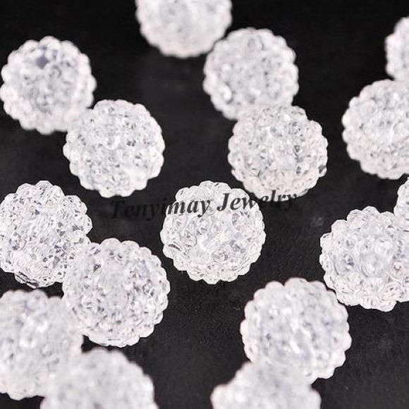 Risultati dei monili del 50 mm dei perline di resina 10mm il trasporto libero dei monili fai da te