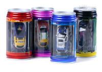 radio púrpura al por mayor-2017 Metal Dinossauro Toy 8-11 años rojo amarillo púrpura juguetes interactivos Hot !!! Nuevo Mini Coke Can Radio Control remoto Super Rc Racing Car