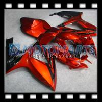 Wholesale Suzuki Gsxr Fairing Orange K6 - 100% NEW HOT Orange for SUZUKI GSXR600 GSXR750 GSX R600 R750 GSXR 600 K6 06 07 2006 2007 Fairing Kit
