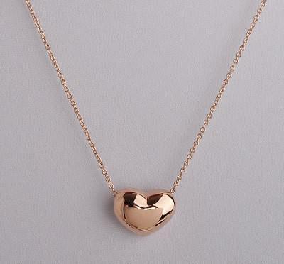 2015 mini collar colgante en forma de corazón caliente para las mujeres, joyas de oro chapado en oro de 18 k de OL collares de cadenas de rosas