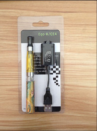 Wholesale Ego T Battery Rohs - ego ce4, ego k ego q with CE ROHS makrs e cigarette blister kits with 650mah ego t coroful battery