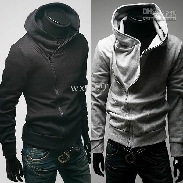 Acheter Veste Pour Hommes Vêtements Supérieurs Sweats À Capuche Homme Casual Zip Up À Capuche Chemise Noir Gris Livraison Gratuite De $14.47 Du
