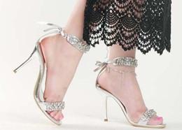 Wholesale Diamond Evening Shoes - Fashion new style wedding shoes high heel shoes diamond sandals dress shoes party evening shoes bridal wedding shoes