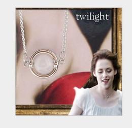 "Wholesale Bella Moonstone - Rhodium Plated cooper Twilight Bella Moonstone Necklace Pendant 19"" 10pcs lot NE-0014"