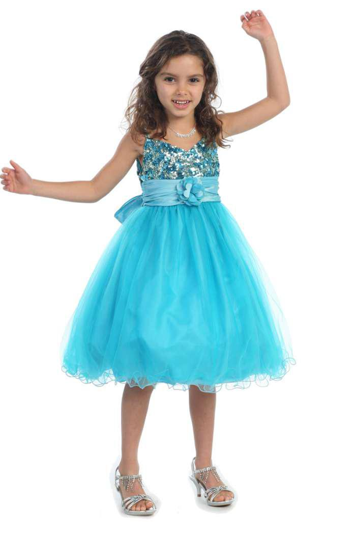Real Picture Light Blue Pink White Lilac Flower Girl Dress Ruffle ...