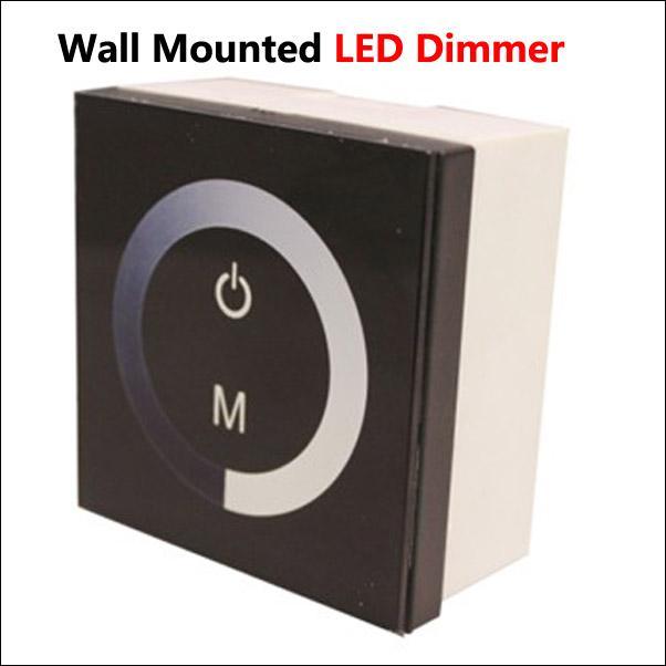 nouveau contrôleur de gradateur à écran tactile pour ampoule LED bande de lumière DC 12V-24V 8A