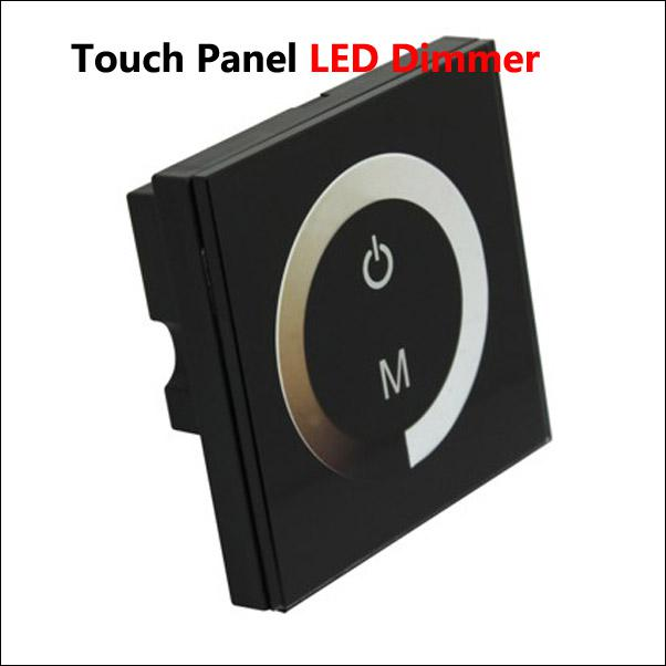 12-24V DC 8A Wall Mount Touch Panel LED Controller Dimmer Switch Ring for Single Color LED Strip Light