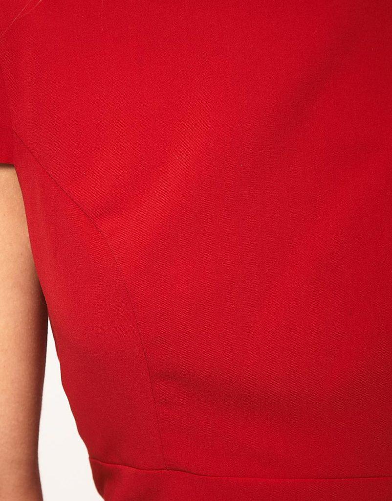 2016 Moda feminina vestido sexy lápis dress com vieiras detalhe saias verão senhoras vestidos de trabalho de volta V pescoço manga curta roupas femininas