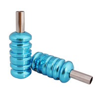 Wholesale Tattoo Supplies Low Prices - lastest low price 8pc colors Aluminum Alloy tattoo Grips with Back Stem For tattoo machine supply