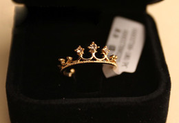Wholesale Cute Simple Rings - 3pcs lot simple style elegant Crown Ring for lucky women cosplay party cute beautiful ring