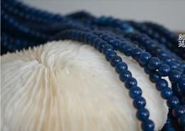 DIY Schmuck Natürlichen Edelstein Halbedelblau Achat Runde Lose Perlen Fit Armband von Fabrikanten