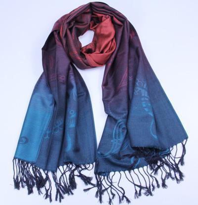 Spedizione gratuita Pashmina sensazione scialle cotone sfumatura colore avvolgere 10 pezzi / lotto