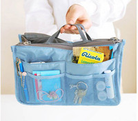 Wholesale Travel Insert Pockets - Lady's Organizer Bag Handbag Organizer Travel Bag Organizer Insert With Pockets Storage Bags