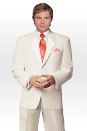 Wholesale Plus Size Cream Suits - 2017 new arrive men tuxedo for wedding groom wear cream prom suits dress 3 piece suit