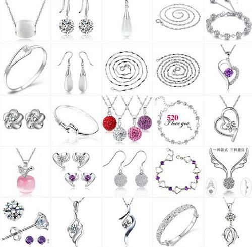 Wedding Jewelry Set Women Fashion 30% 925 Sterling Silver Penant Necklace/Ring/Earring/Bracelet/Bangle Bohemian Trendy Wedding Jewelry Set