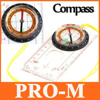 10pcs / lot <b>Mini Baseplate Compass</b> Map Scale Ruler Outdoor Camping Randonnée cycliste Scouts H8617 Gratuit