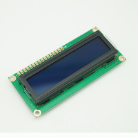 módulos de pantalla lcd al por mayor-10PCS / lot 5V Character LCD Module Display Shield LCM 1602 HD44780 16X2 162 Retroiluminación azul # BV060 @CF