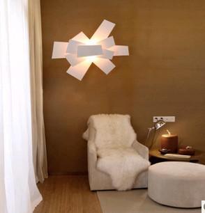 Discount 57cm White/Red Foscarini Big Bang Wall Lamp Sconces ...