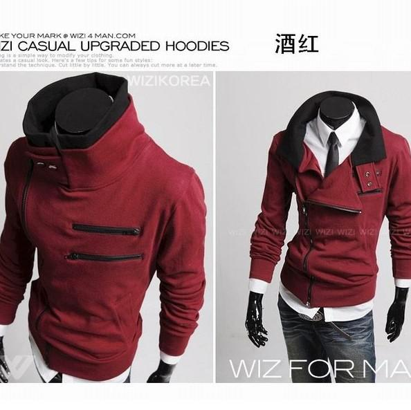 2017 Cool Fansion Zipper Pocket Hoody Black,Grey,Purple,Wine Red ...
