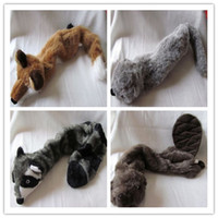Wholesale Quality Dog Toys Wholesale - Free shipping High quality for fabric pet dog toy plush toy squeaker no suffing in body wild animal