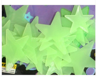 Wholesale Graphic Decal Wholesale - 3cm 2000pcs GLOW IN THE DARK 3D STARS STICKERS with adhesive BABY KIDS GIFT