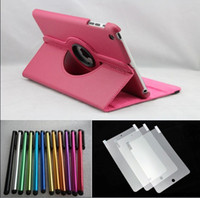 Wholesale ipad prices - 1Best Price leather case for ipad mini screen protector Stylus pen