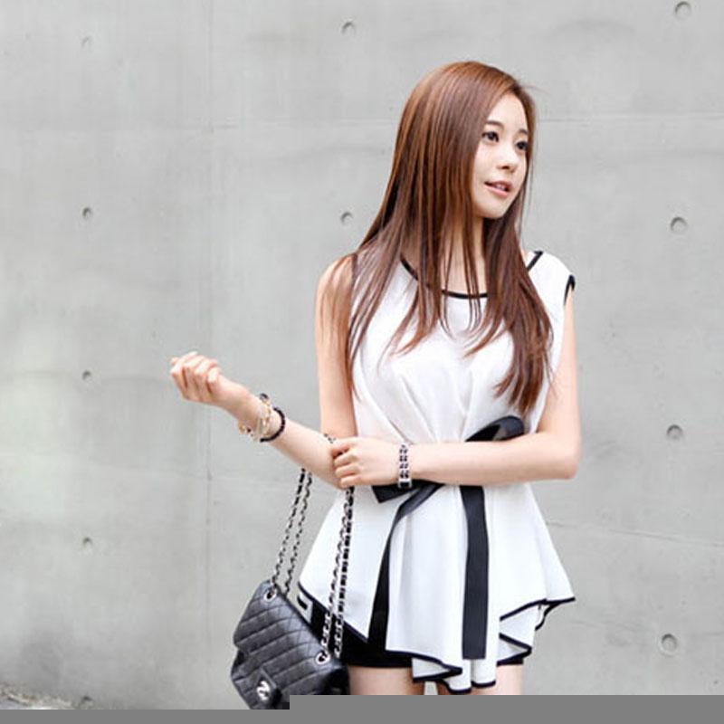 13c959f31995 2019 Fashion New 2013 Women Silk Blouse  Summer Korean Temperament  Sleeveless Chiffon Cape Sexy Tops From Tianshidejiaoyin88