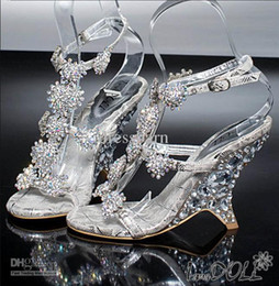 Wholesale Silver Rhinestone Heels Open Toes - Hot Sale litter Silver Bridal High Heels Shoes Wedding Bridesmaid Shoes Party Shoe,Prom Wedding Party Shoes