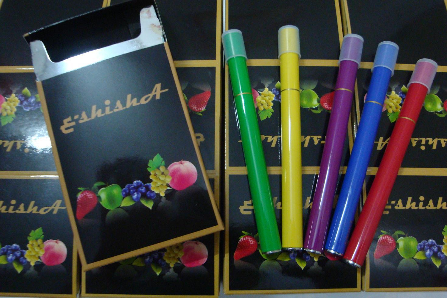 2013 New style mini electronic cigarette e-shisha pens with 5 color painting and 5 different flavors