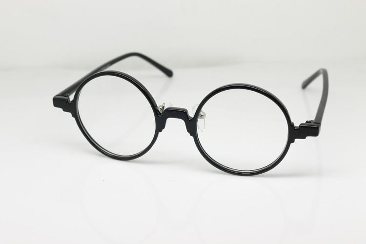 360 Round Eyeglass Frame Black Japanese Design Eyewear Top