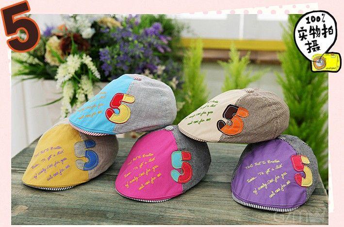 Primavera nova versão coreana do cap crianças chapéu bebê chapéu homens e mulheres bebê número 5 boinas