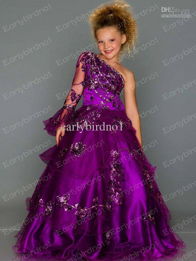 Little Girl's Pageant Dresses 2013 Hot Selling Pink Halter ...