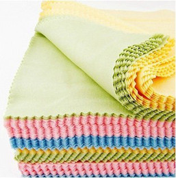 Wholesale Glasses Cleaning Cloth Wholesale - 1000pcs lots Large Size Cleaning Clean Cloth For Tablet Computer Cellphone Camera Screen LCD Glass
