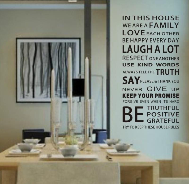 House Rule 3 Laugh A Wall Quote Decal Decor Sticker Lettering Saying Wall  Art Stickers Decals Large Wall Decals For Kids Large Wall Sticker From  Jeanwill, ... Part 34