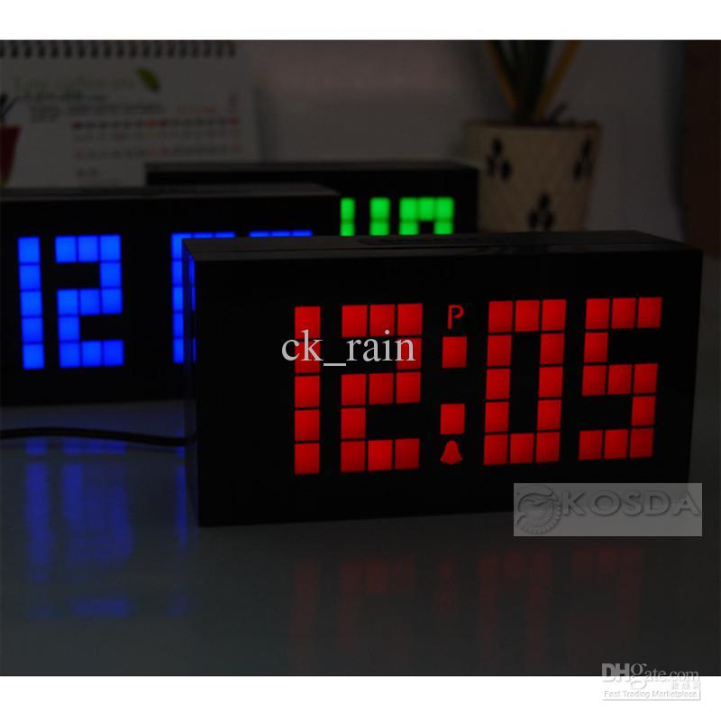 2017 Large Digital Led Clock Jumbo Led Wall Clock Snooze Alarm