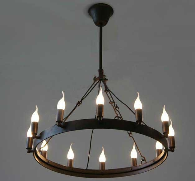 acheter vente chaude moderne camino ronde lustre loft table ronde guerrier bougie lampe. Black Bedroom Furniture Sets. Home Design Ideas