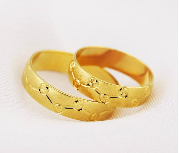 18k Yellow Gold Ring Couple Rings Men And Women Ring Gold Ring
